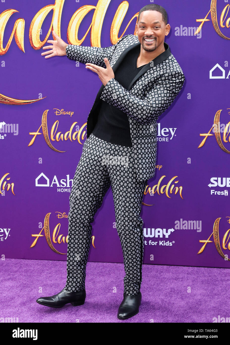 Hollywood, United States. 21st May, 2019. HOLLYWOOD, LOS ANGELES, CALIFORNIA, USA - MAY 21: Actor Will Smith arrives at the World Premiere Of Disney's 'Aladdin' held at the El Capitan Theatre on May 21, 2019 in Hollywood, Los Angeles, California, United States. (Photo by Xavier Collin/Image Press Agency) Credit: Image Press Agency/Alamy Live News - Stock Image