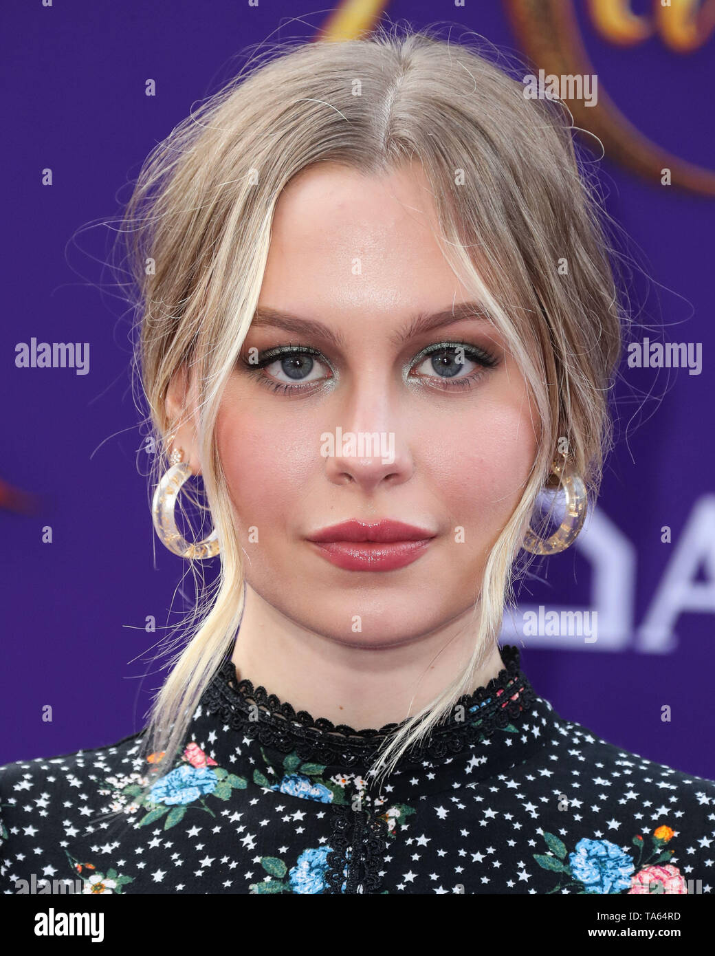 Hollywood, United States. 21st May, 2019. HOLLYWOOD, LOS ANGELES, CALIFORNIA, USA - MAY 21: Actress Natasha Bure arrives at the World Premiere Of Disney's 'Aladdin' held at the El Capitan Theatre on May 21, 2019 in Hollywood, Los Angeles, California, United States. (Photo by Xavier Collin/Image Press Agency) Credit: Image Press Agency/Alamy Live News - Stock Image