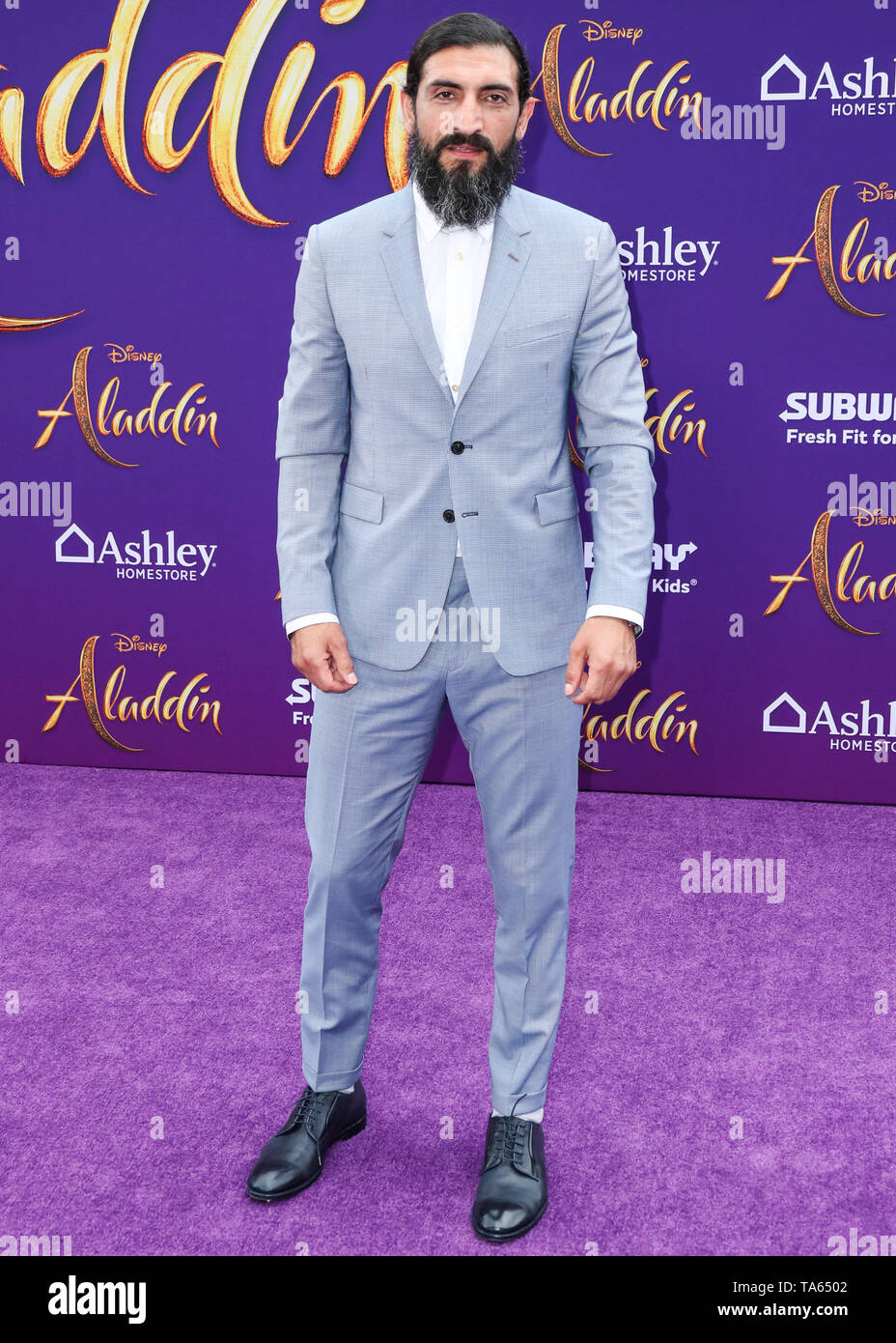 Hollywood, United States. 21st May, 2019. HOLLYWOOD, LOS ANGELES, CALIFORNIA, USA - MAY 21: Actor Numan Acar arrives at the World Premiere Of Disney's 'Aladdin' held at the El Capitan Theatre on May 21, 2019 in Hollywood, Los Angeles, California, United States. (Photo by Xavier Collin/Image Press Agency) Credit: Image Press Agency/Alamy Live News - Stock Image