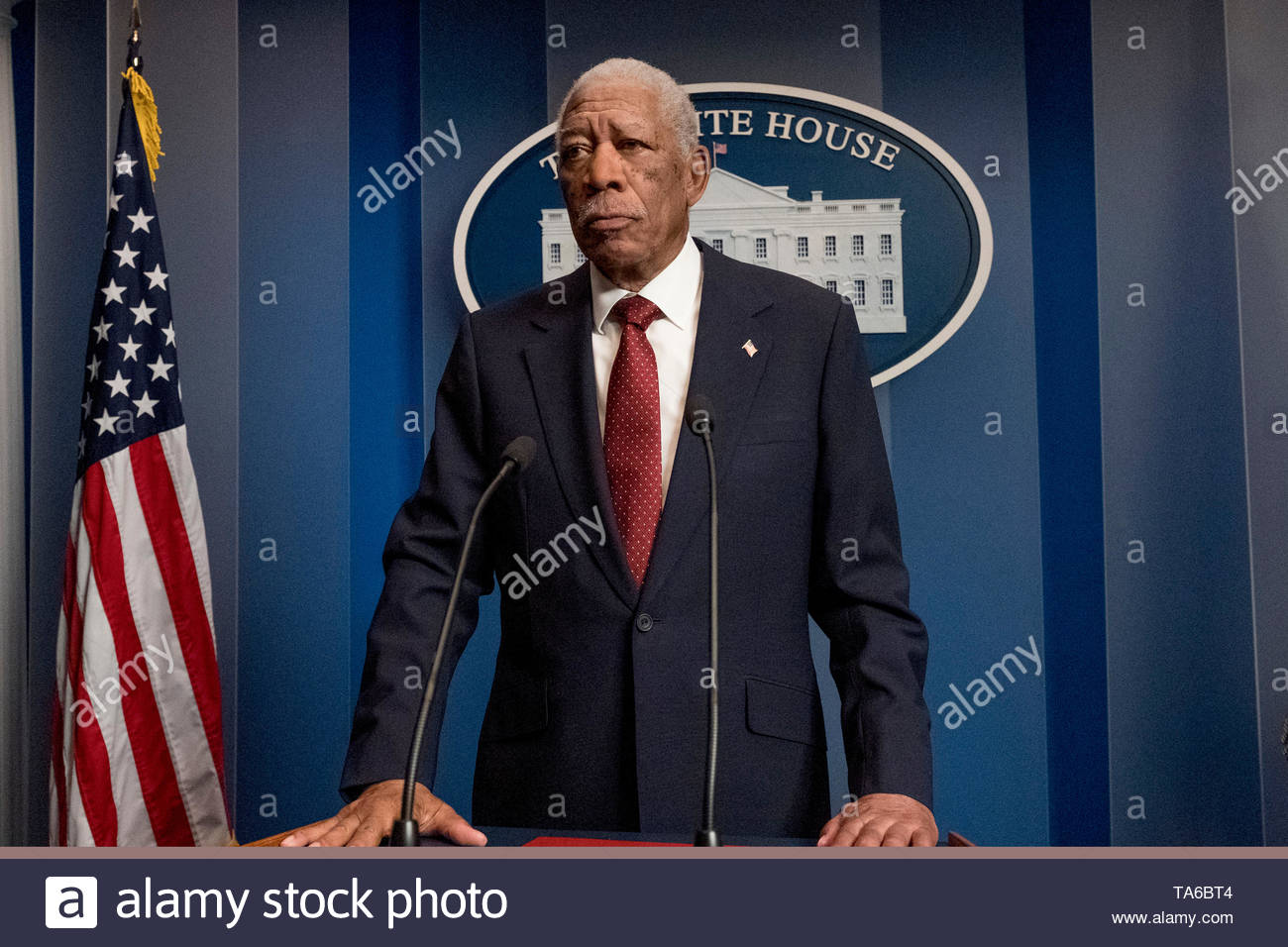 RELEASE DATE: August 23, 2019 TITLE: Angel Has Fallen STUDIO: Summit Entertainment DIRECTOR: Ric Roman Waugh PLOT: Secret Service Agent Mike Banning is framed for the attempted assassination of the President and must evade his own agency and the FBI as he tries to uncover the real threat. STARRING: MORGAN FREEMAN as Allan Trumbull. (Credit Image: © Summit Entertainment/Entertainment Pictures) Stock Photo