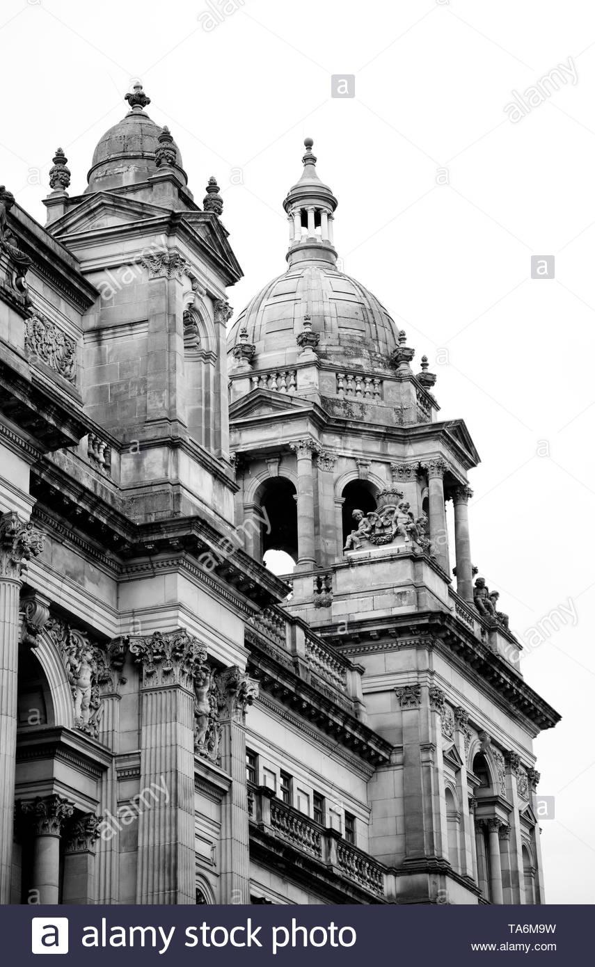 Glasgow City Halls - Stock Image