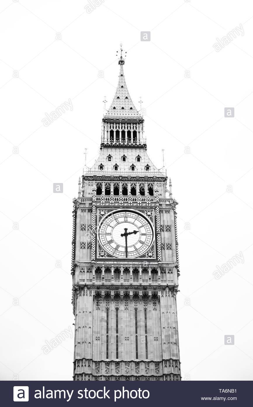 Clock Tower (Big Ben) - Stock Image