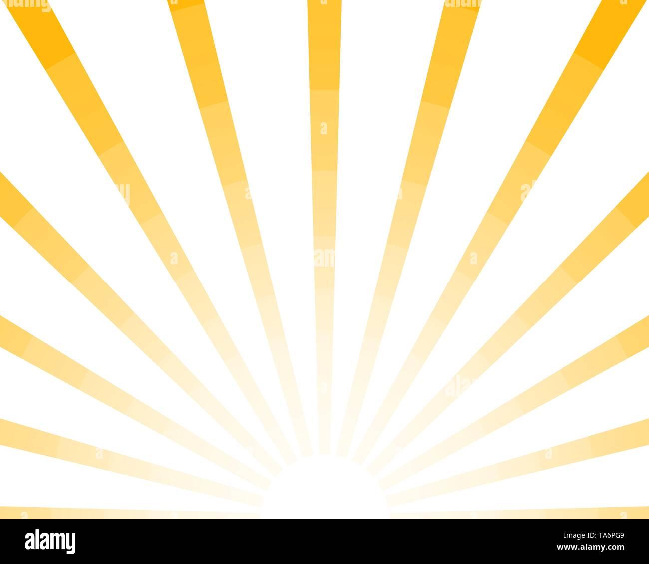 a1563c4482c46 Half Sun Rays retro background, yellow colored sunburst stylish. Shine  Summer pattern Eps 10. Vector starburst illustration