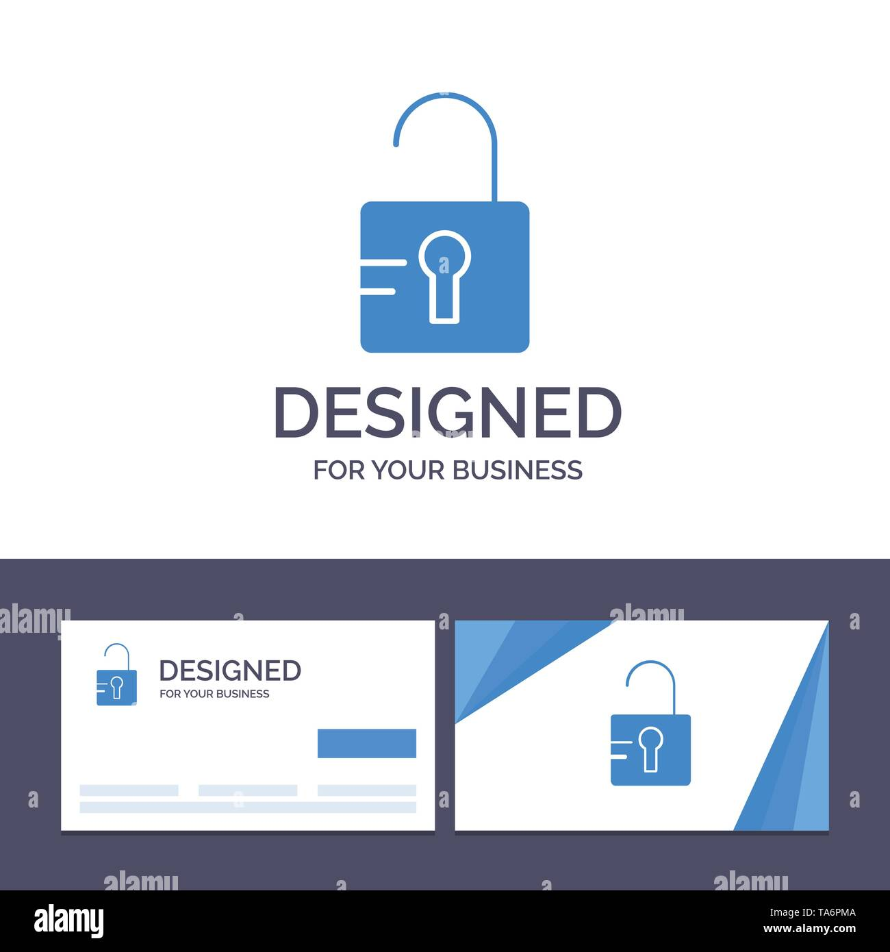 Creative Business Card and Logo template Unlock, Study