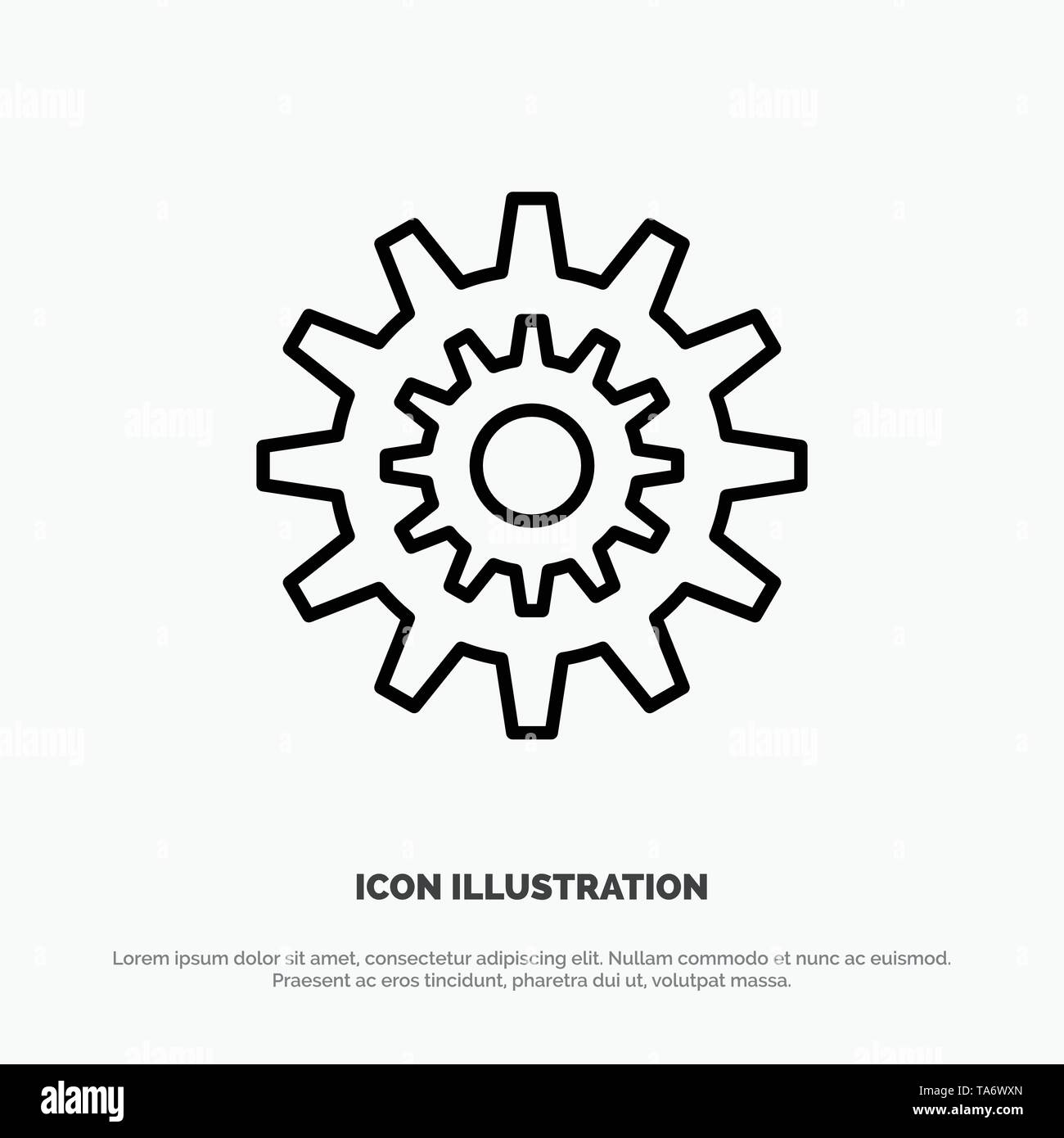 Settings, Cog, Gear, Production, System, Wheel, Work Line Icon