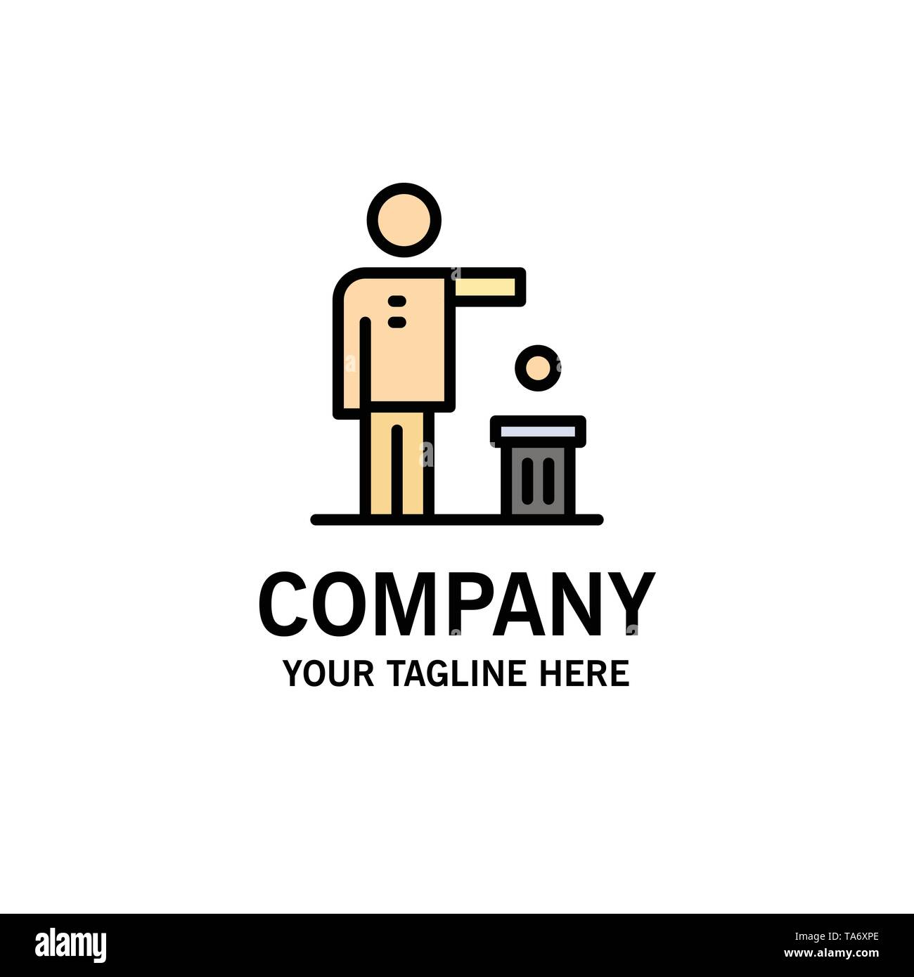 Bad, Idea, Ideas, Recycling, Thought Business Logo Template. Flat Color - Stock Image