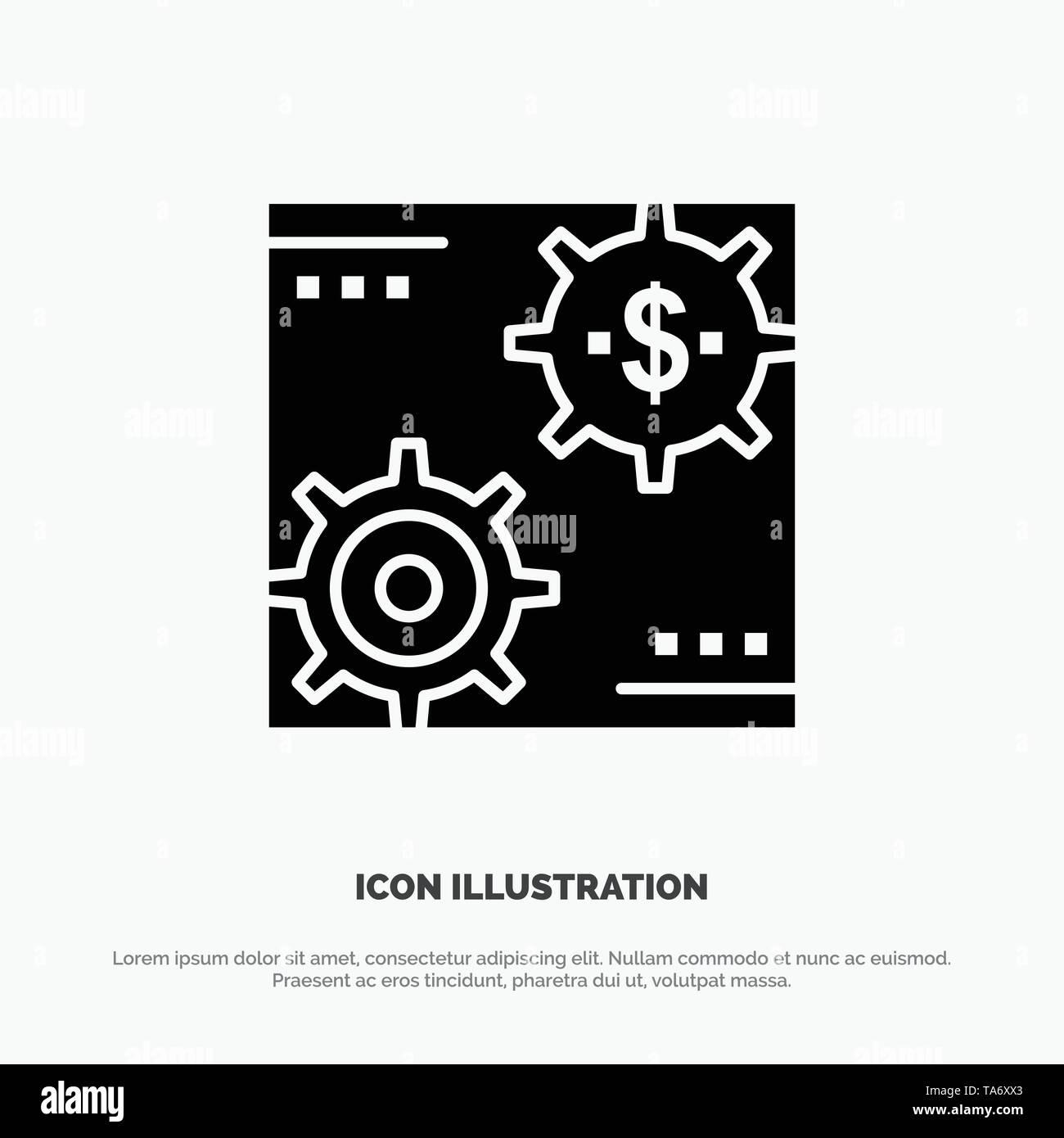 Revenue, Capital, Earnings, Make, Making, Money, Profit solid Glyph