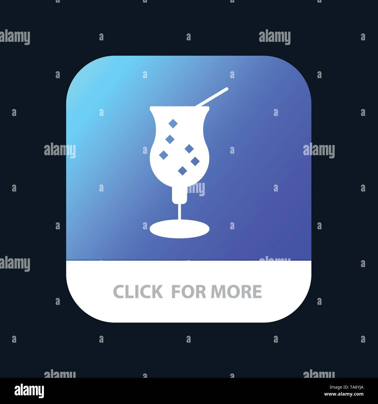 Web Mobile App Button. Android and IOS Glyph Version - Stock Image