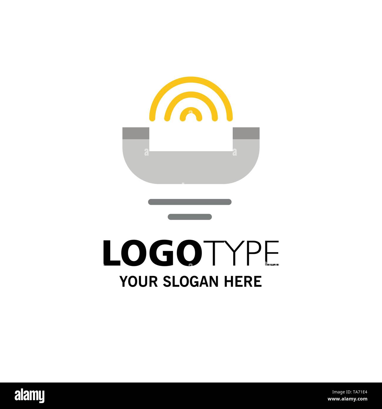 Device, Help, Productivity, Support, Telephone Business Logo Template. Flat Color - Stock Image