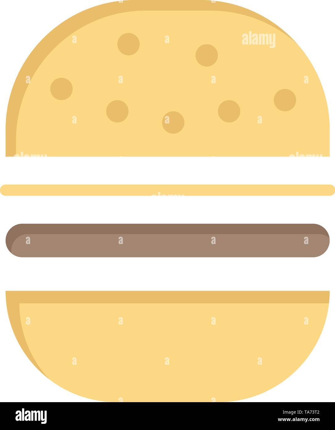 Burger, Fast food, Fast, Food  Flat Color Icon. Vector icon banner Template - Stock Image