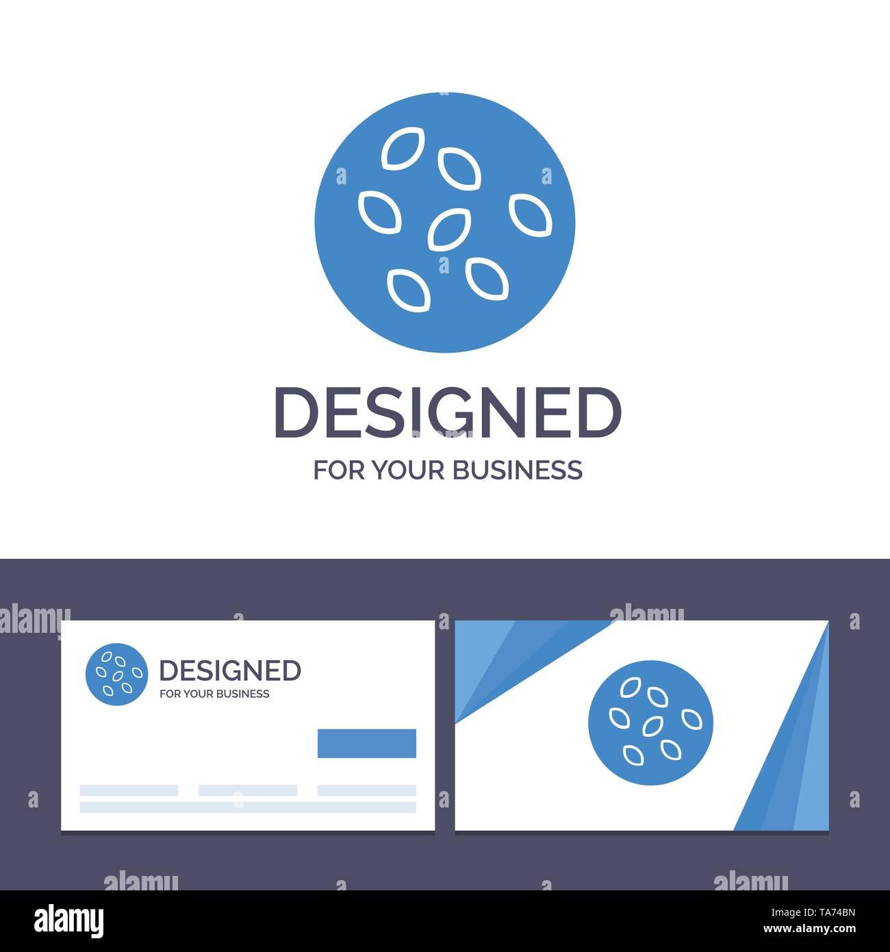 Creative Business Card and Logo template Seeds, Sesame, Sesame Seeds, Seamus Vector Illustration - Stock Image
