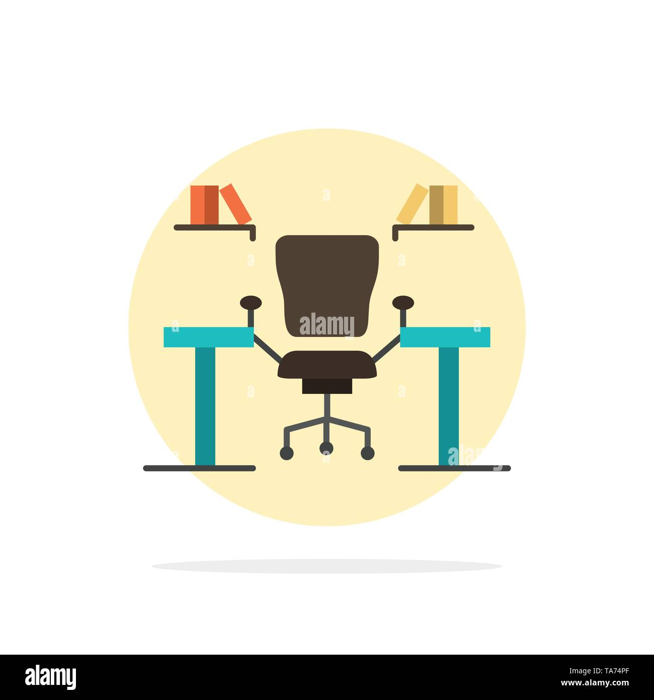 Table Business Chair Computer Desk Office Workplace Abstract