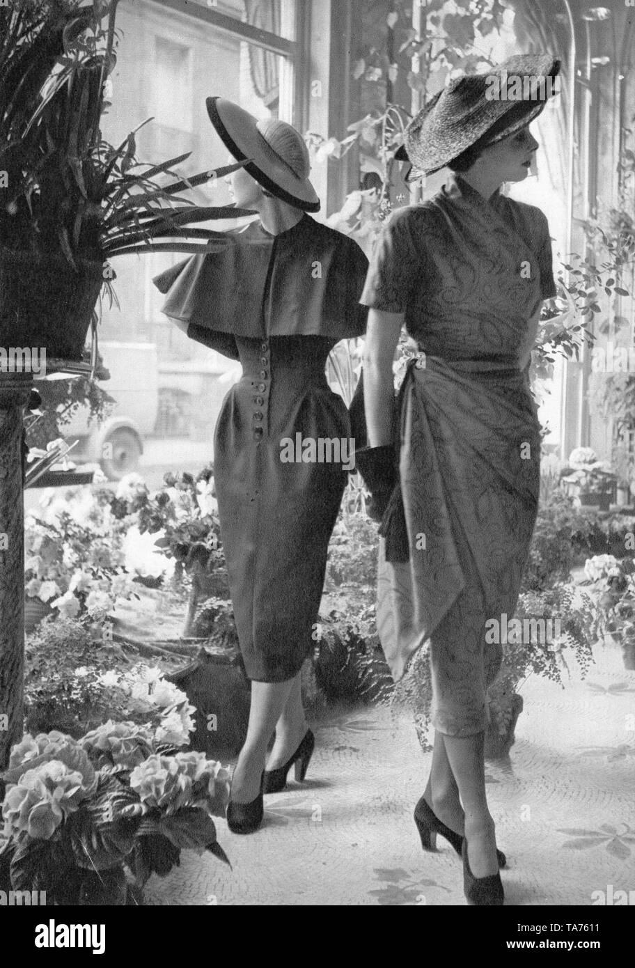 French Fashion Models 1950s - Stock Image
