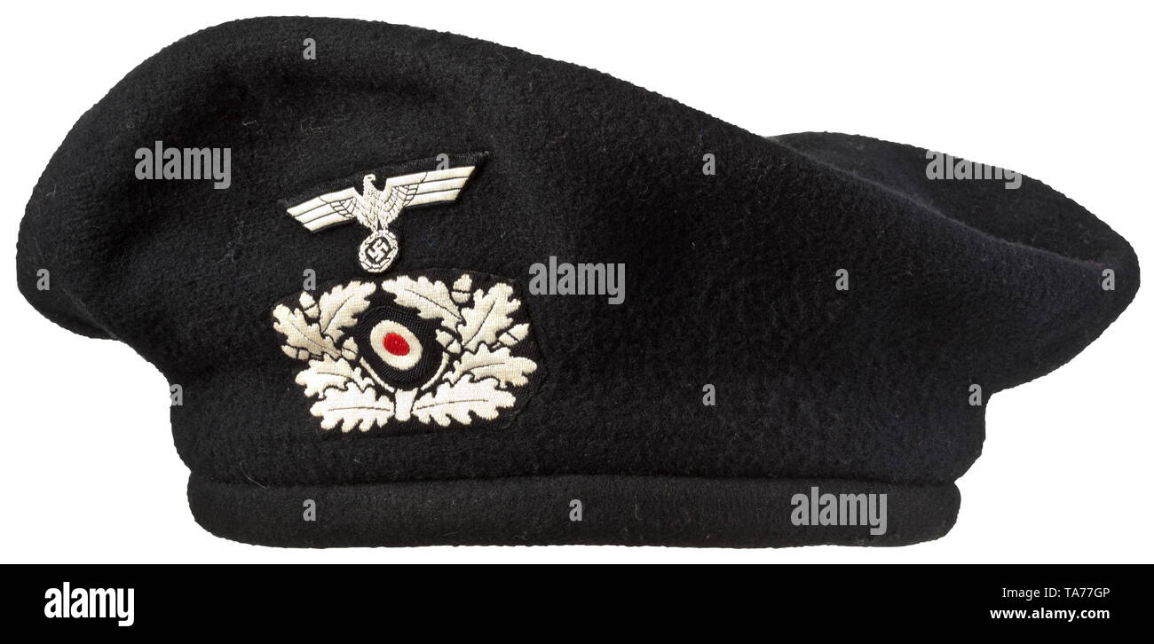 A protective Panzer beret complete with removable cover