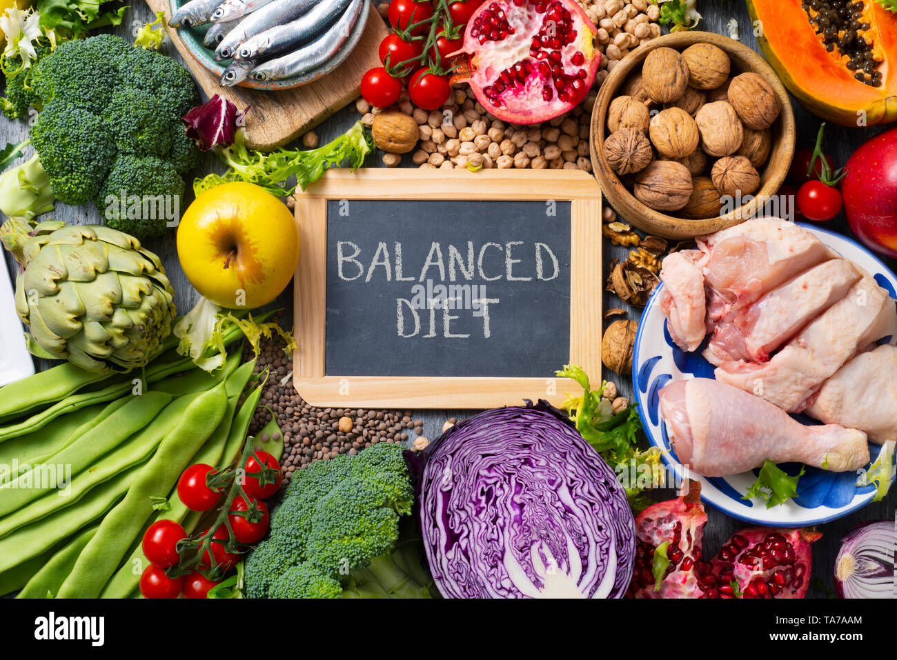 Balanced Diet High Resolution Stock Photography And Images Alamy