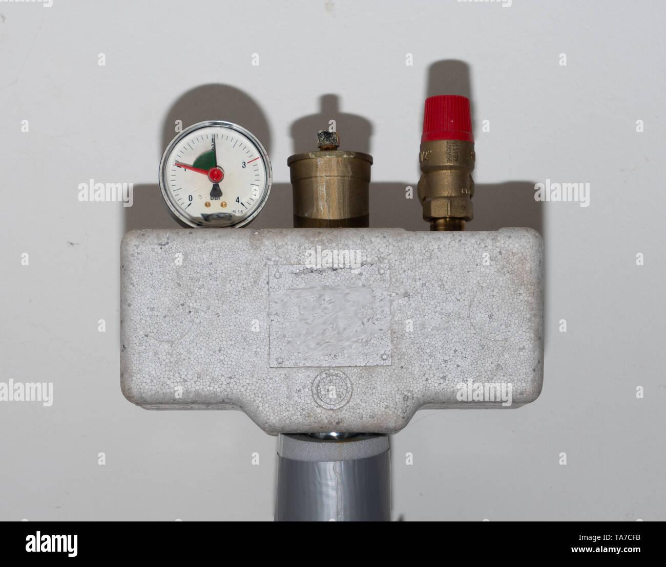 Anzeige des Betriebsdruckes Stock Photo