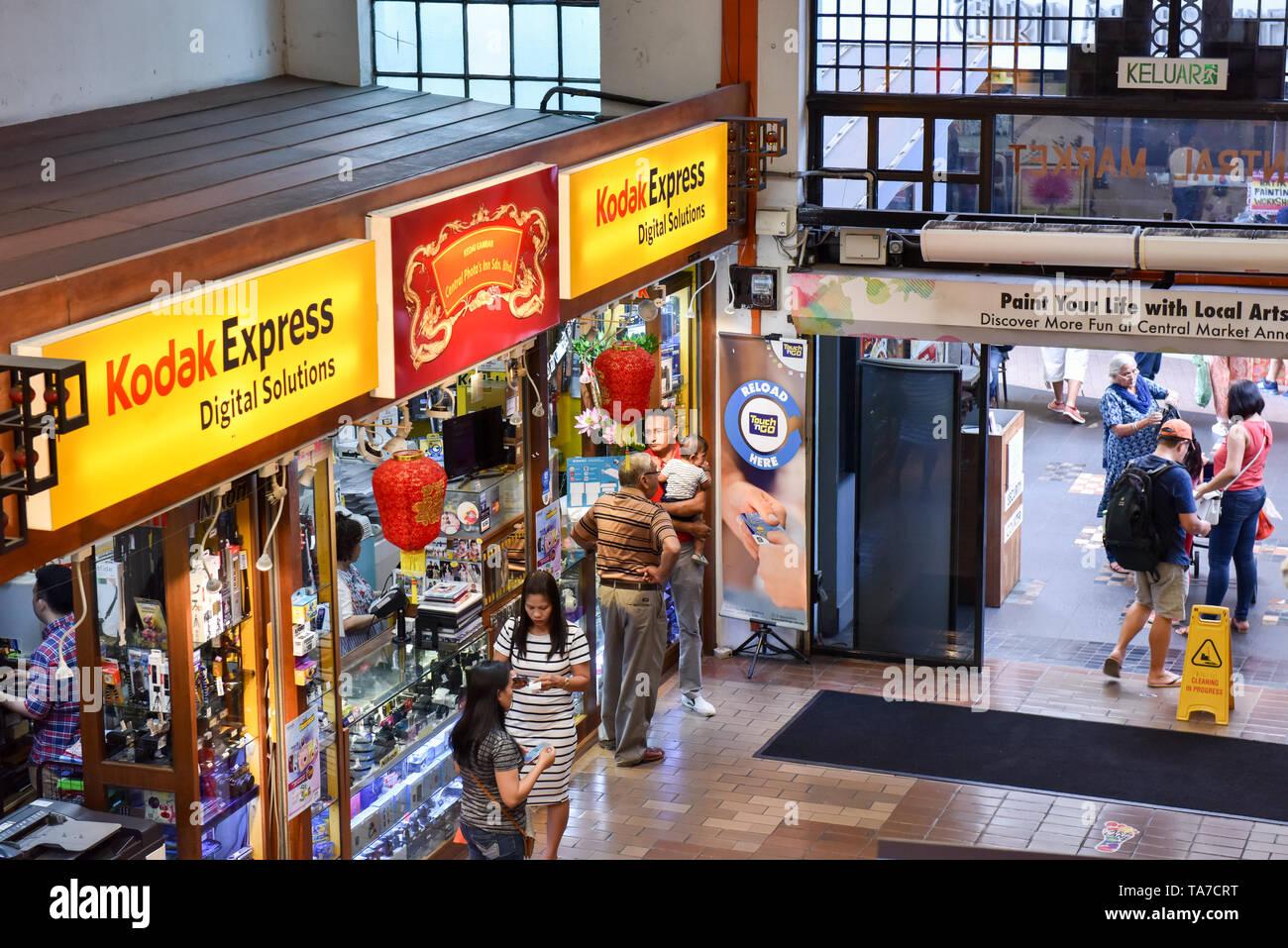 Kodak Express shop, Central Market, Kuala Lumpur Stock Photo