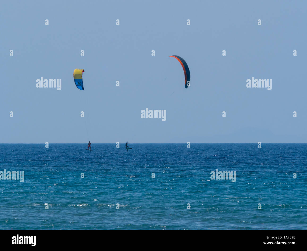 Summer water sports in clear open sea ocean - Stock Image