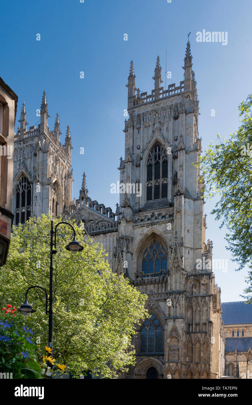 York Minster West Bell Towers - Stock Image