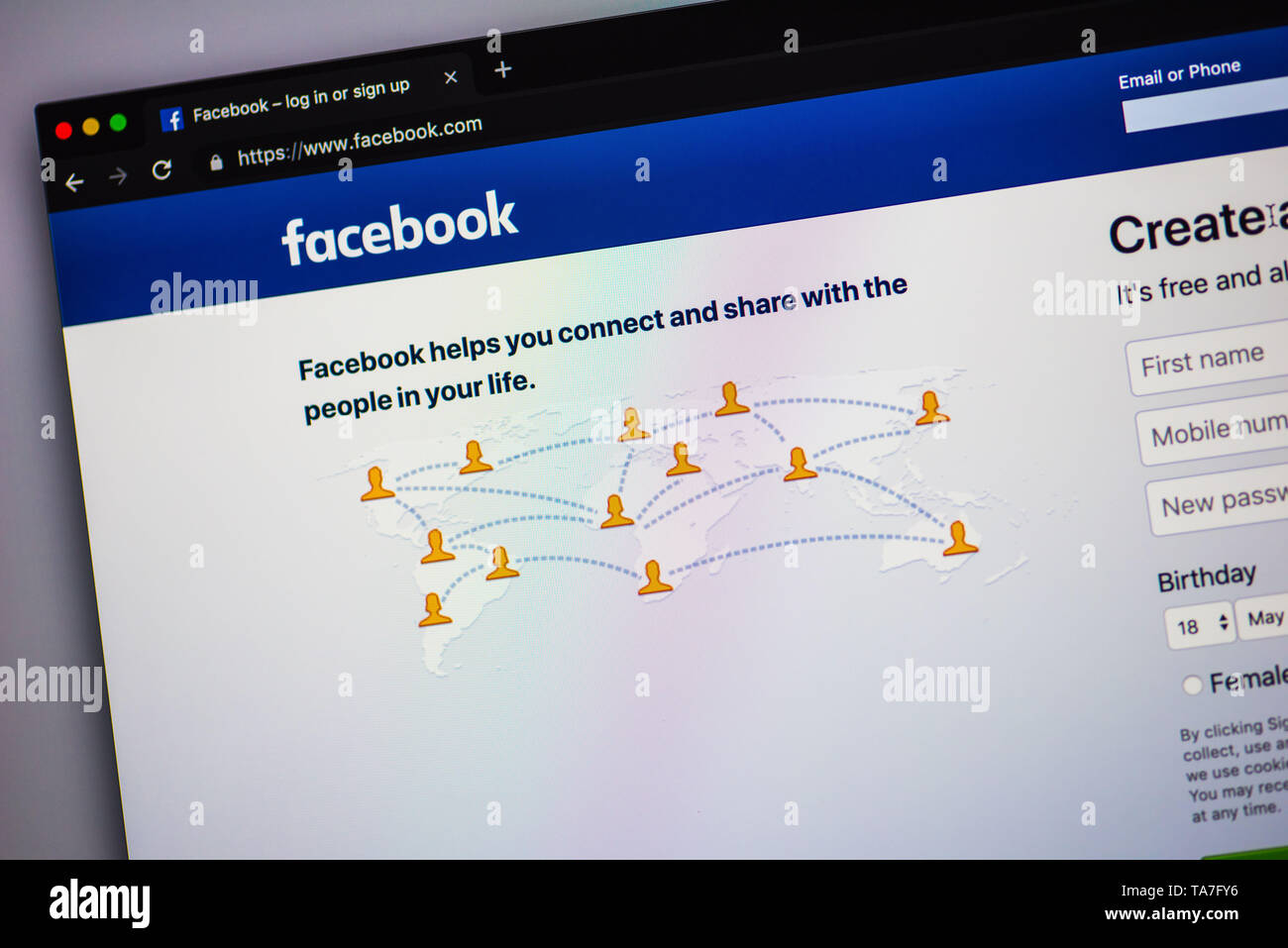 Facebook login page Stock Photo: 247257898 - Alamy