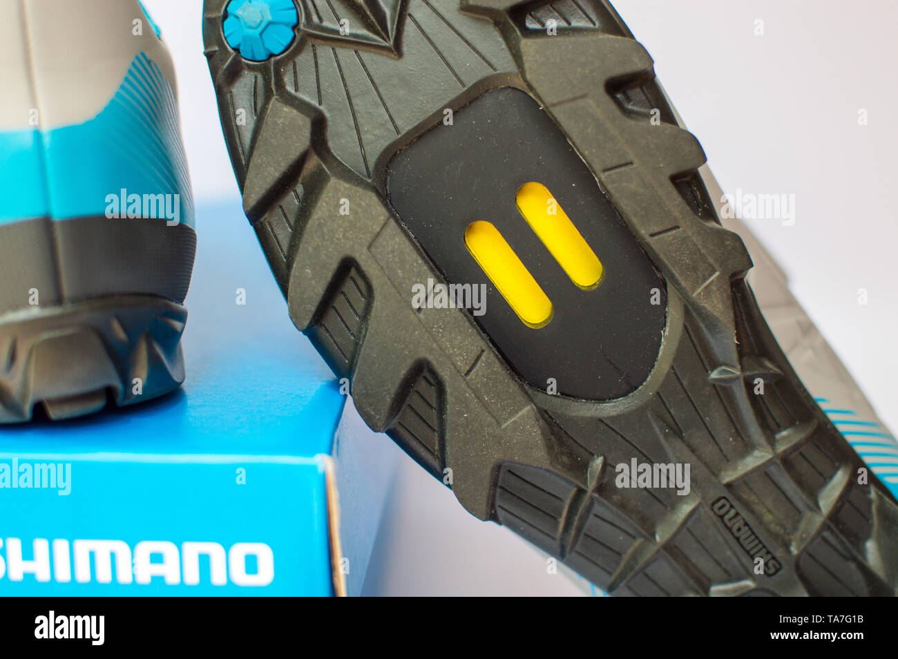 Shimano SPD shoes - Stock Image