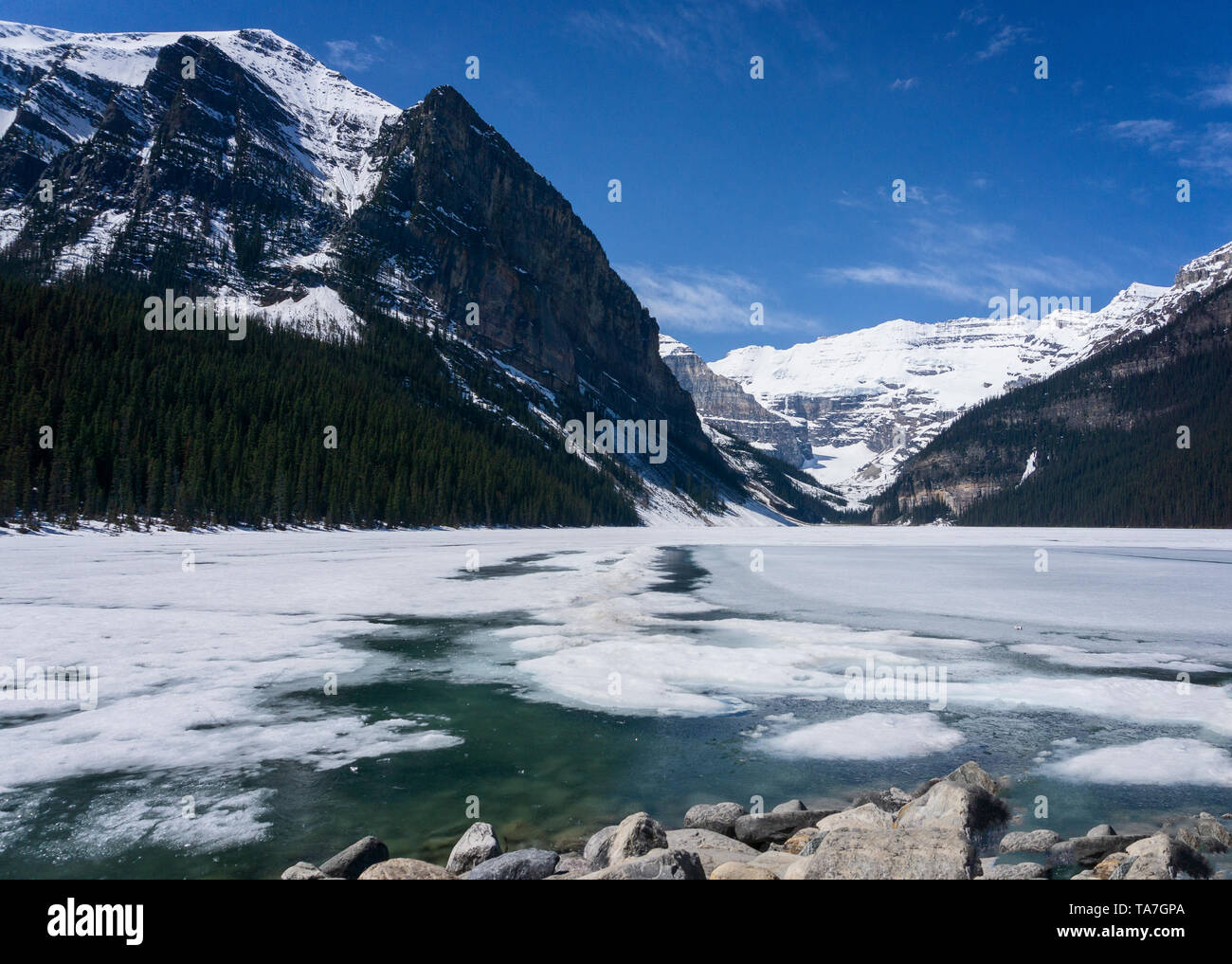 Lake Louise Alberta Canada - Stock Image