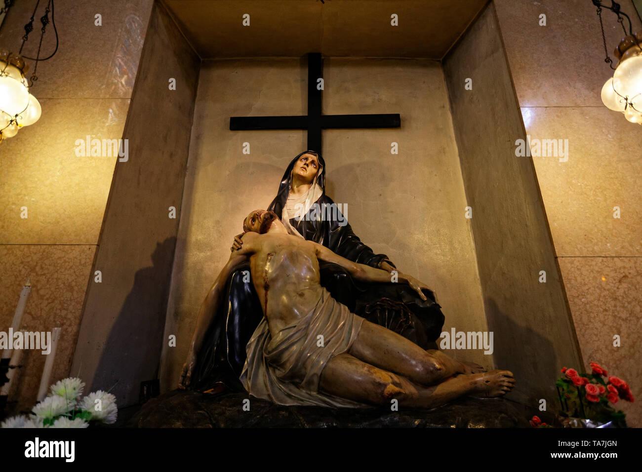 The Pietà shown inside the Turin's cathedral. MLBARIONA/Alamy Stock Photos - Stock Image