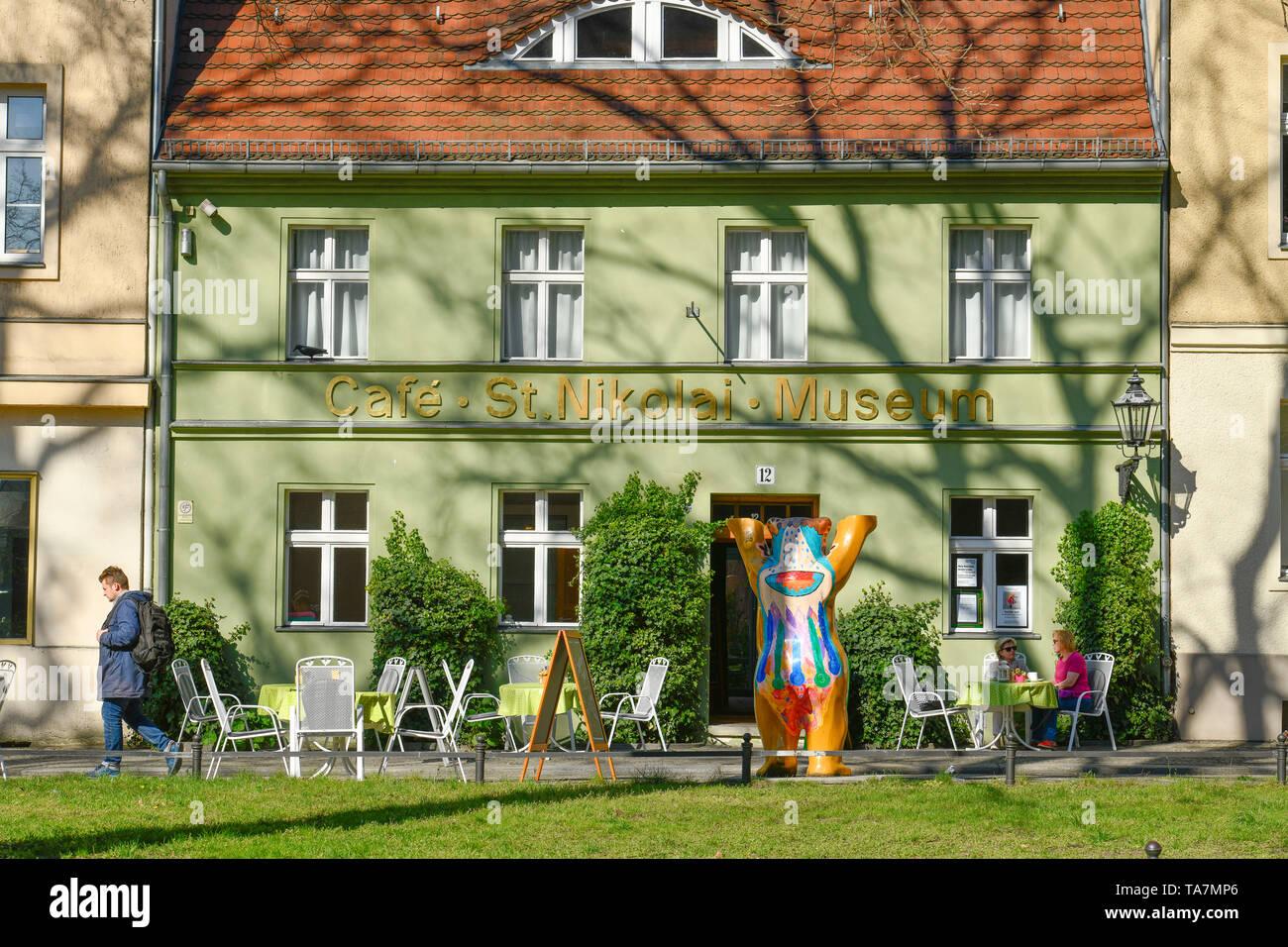 Saint Nikolai museum, Reformation place, Old Town, Spandau, Berlin, Germany, St. Nikolai Museum, Reformationsplatz, Altstadt, Deutschland - Stock Image