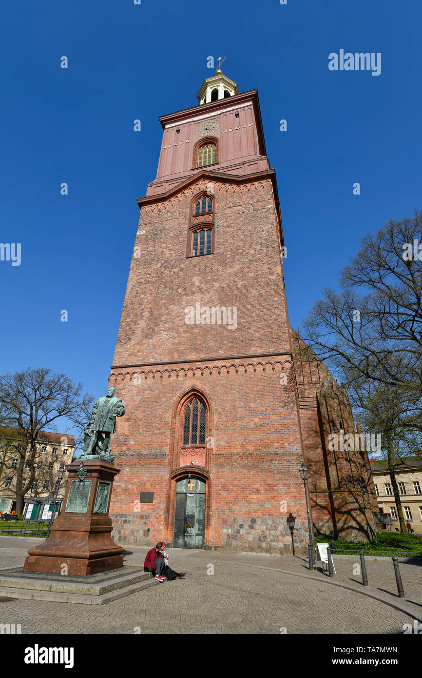 Saint Nikolai-Kirche, Reformation place, Old Town, Spandau, Berlin, Germany, St. Nikolai-Kirche, Reformationsplatz, Altstadt, Deutschland - Stock Image