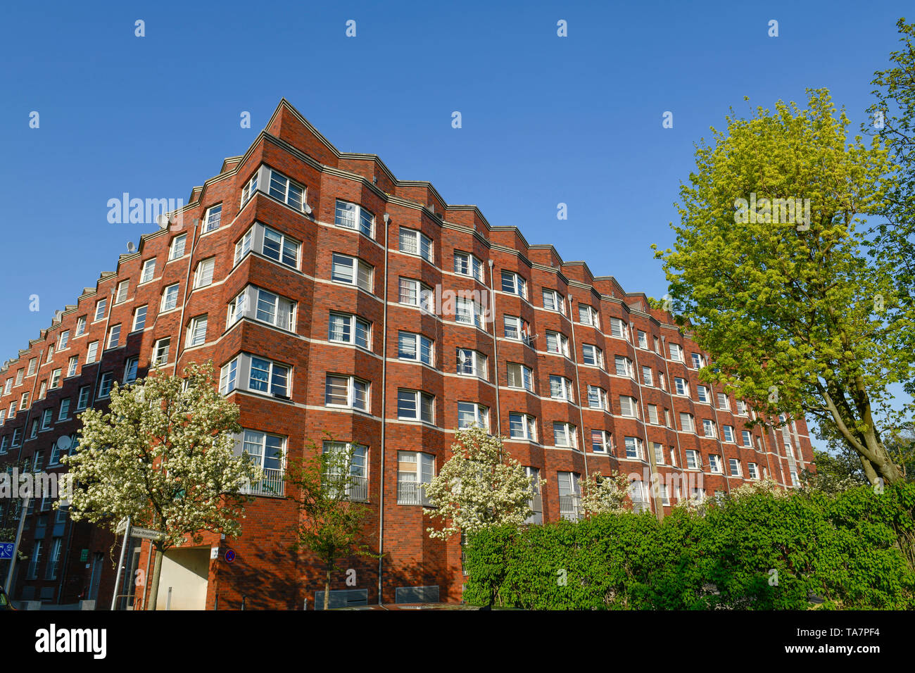 Dwelling house, former magistrate's brewery, Hirschfeld-Steig, Rose's Reinglass steep path, water town of Spandau, to hook field, Spandau, Berlin, Ger - Stock Image