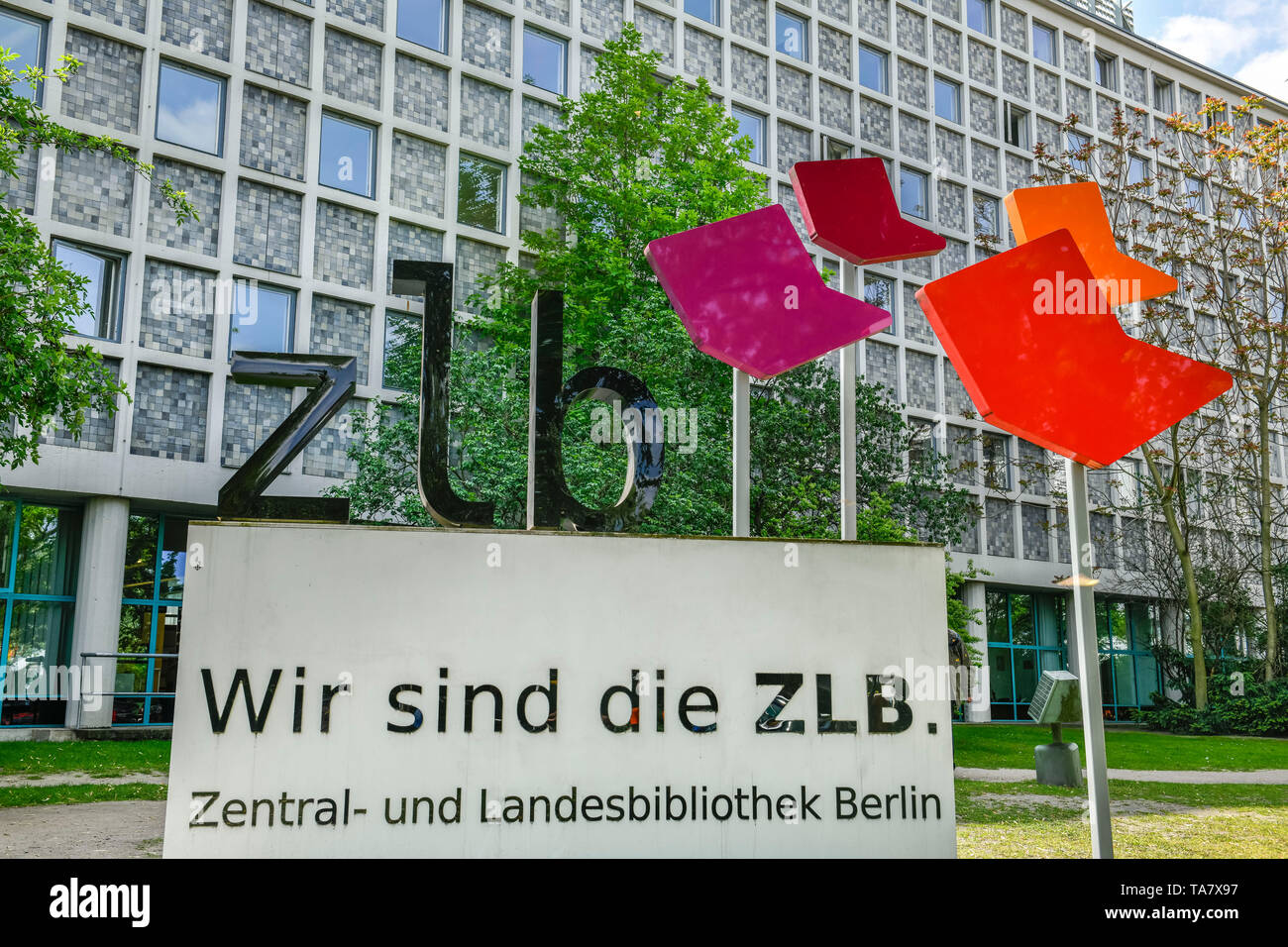 Central library and land library, America commemorative library, place Blücher, cross mountain, Berlin, Germany, Zentral- und Landesbibliothek, Amerik Stock Photo