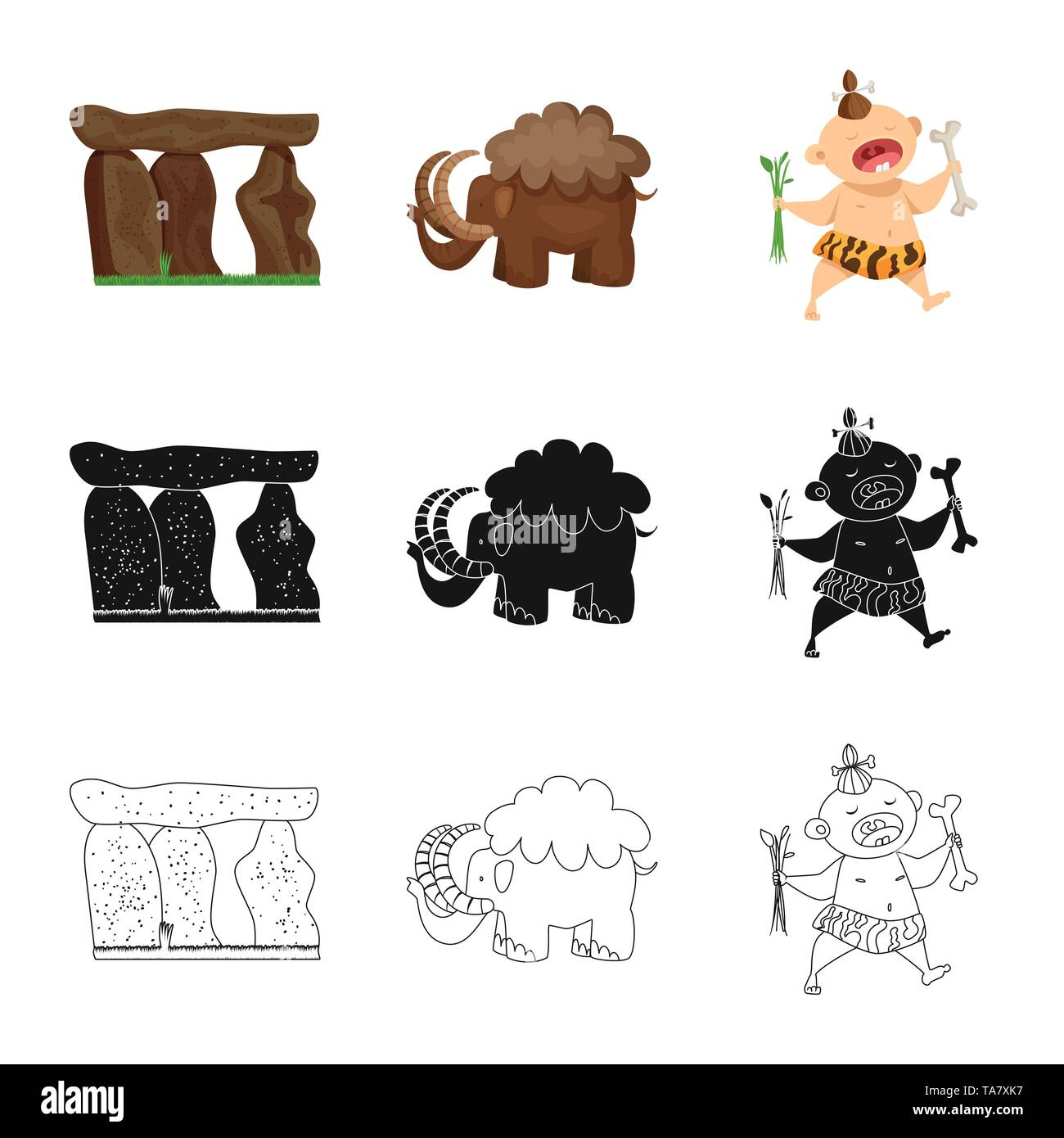 Isolated object of evolution  and prehistory logo. Collection of evolution  and development  stock vector illustration. - Stock Image