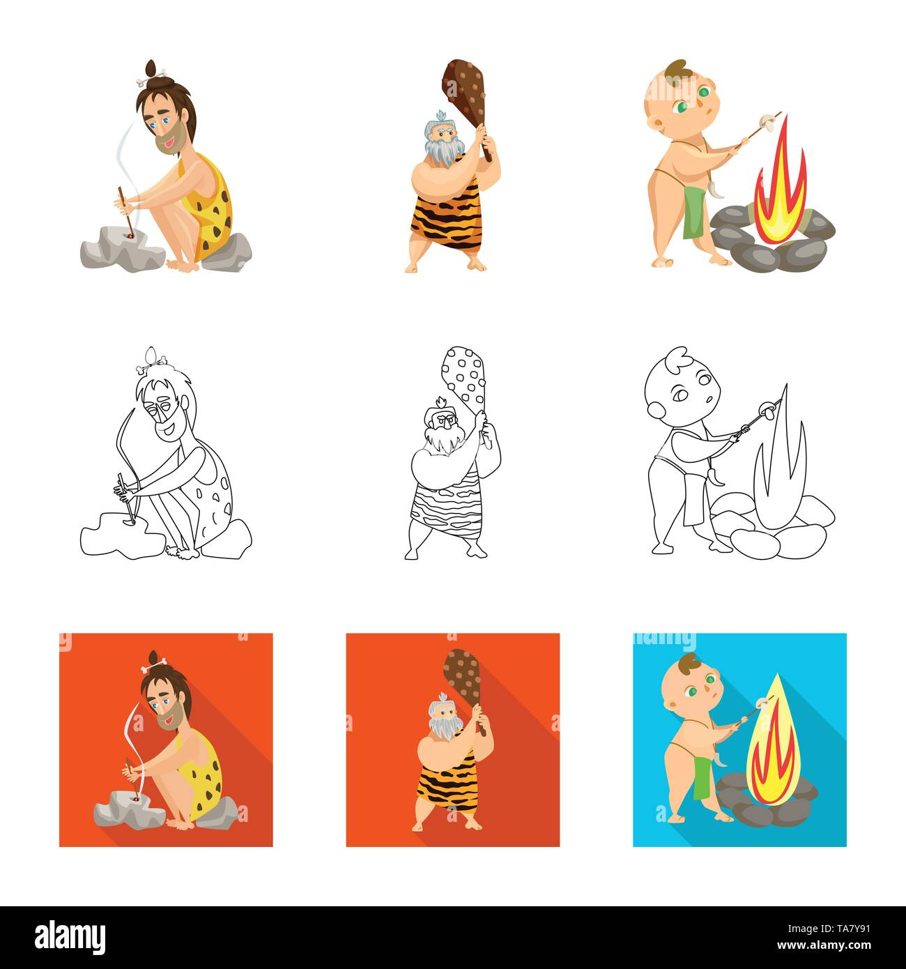 Isolated object of evolution  and prehistory icon. Set of evolution  and development  vector icon for stock. - Stock Image