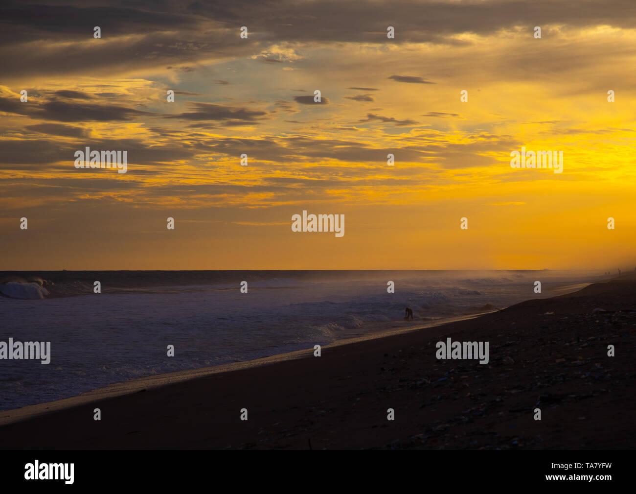 Beach at sunset, Sud-Comoé, Grand-Bassam, Ivory Coast Stock Photo