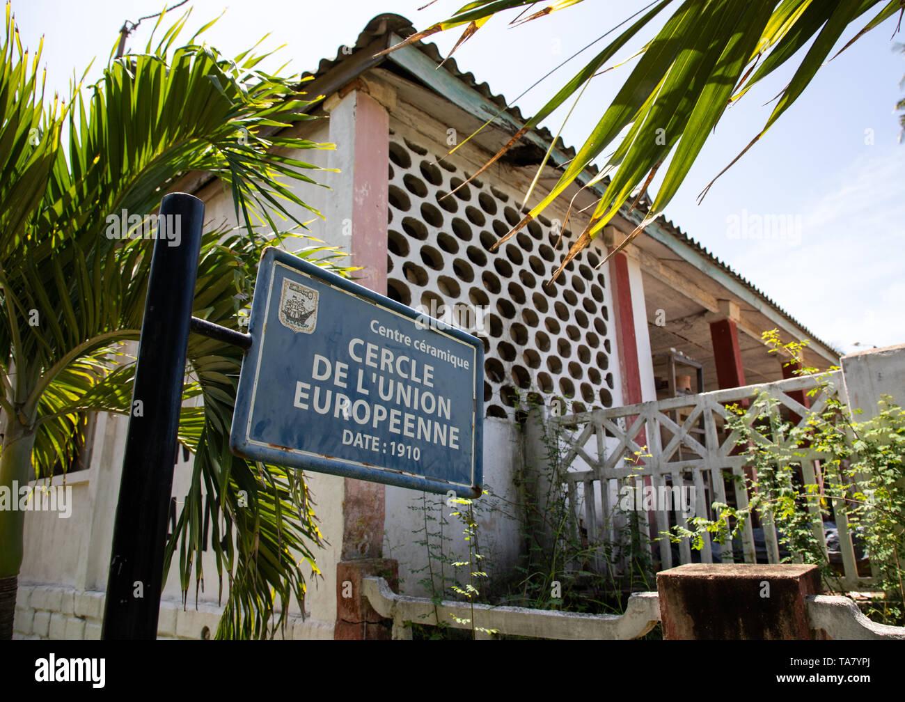 Centre céramique formerly cercle de l'union européenne, Sud-Comoé, Grand-Bassam, Ivory Coast - Stock Image