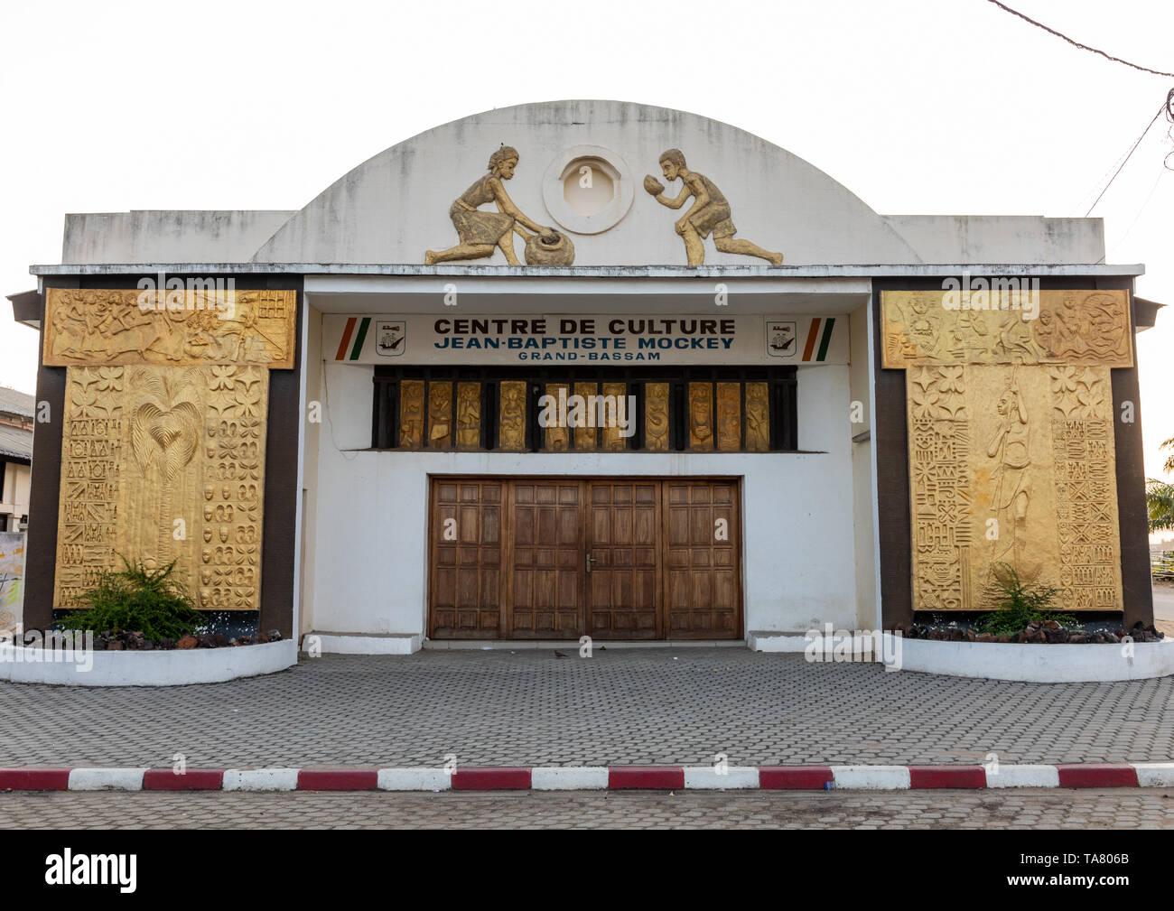 Centre culturel Jean-Baptiste Mockey formerly the vegetable market, Sud-Comoé, Grand-Bassam, Ivory Coast - Stock Image