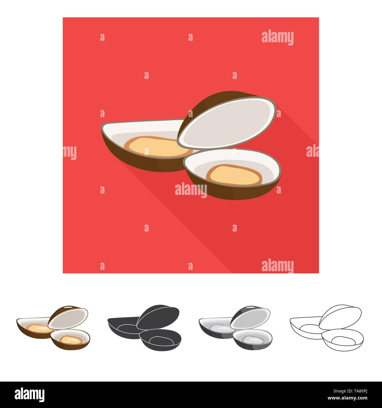 Vector design of fresh  and restaurant logo. Collection of fresh  and marine   stock symbol for web. - Stock Image