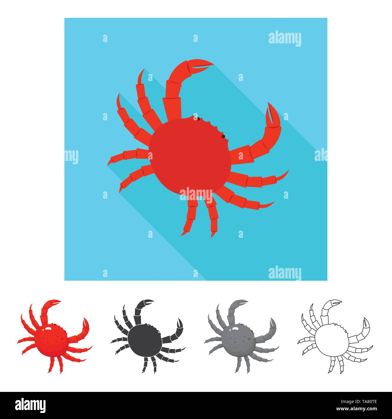 Isolated object of fresh  and restaurant logo. Set of fresh  and marine   vector icon for stock. - Stock Image