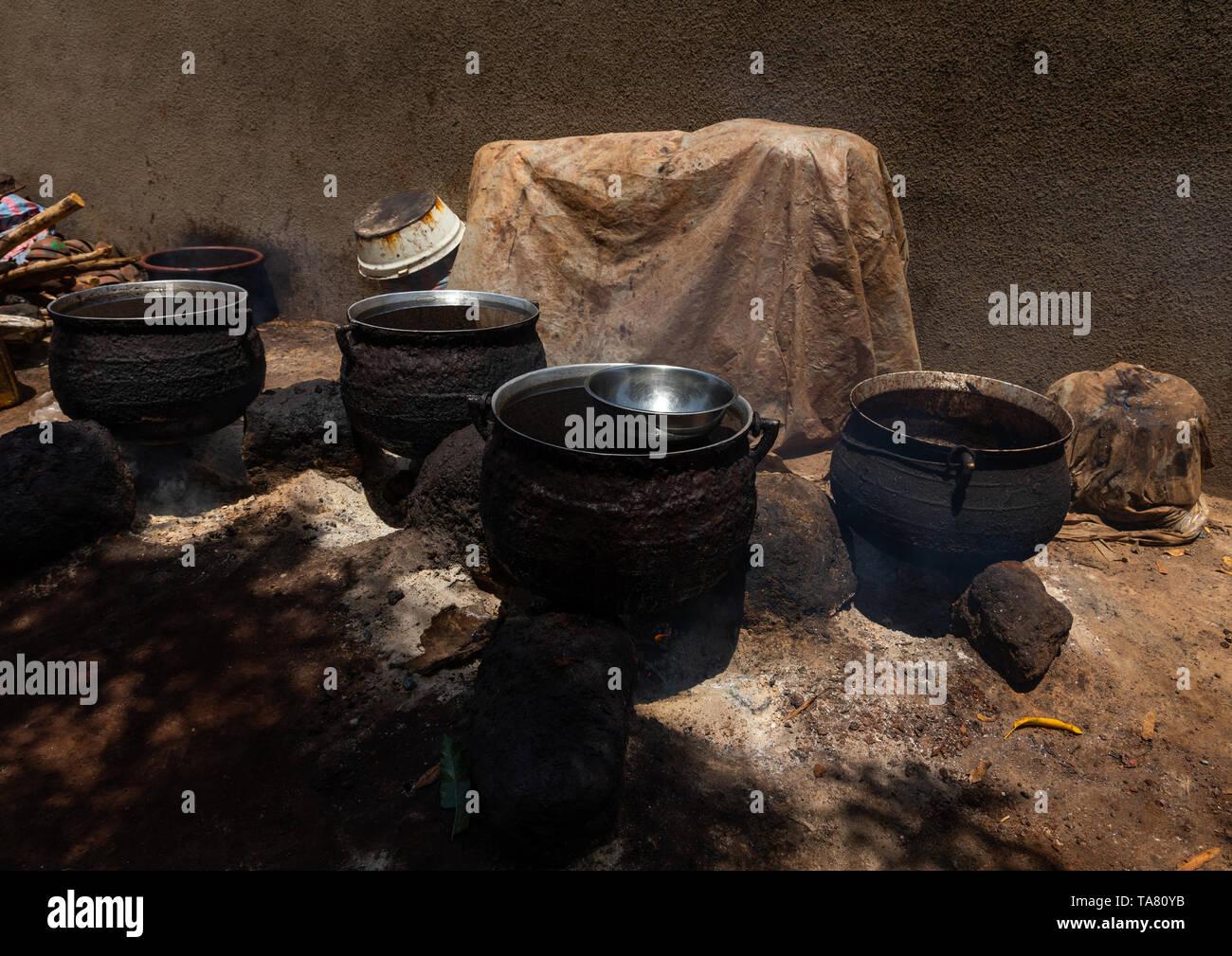 Shea butter or karite factory, Savanes district, Tcheregnimin, Ivory Coast - Stock Image