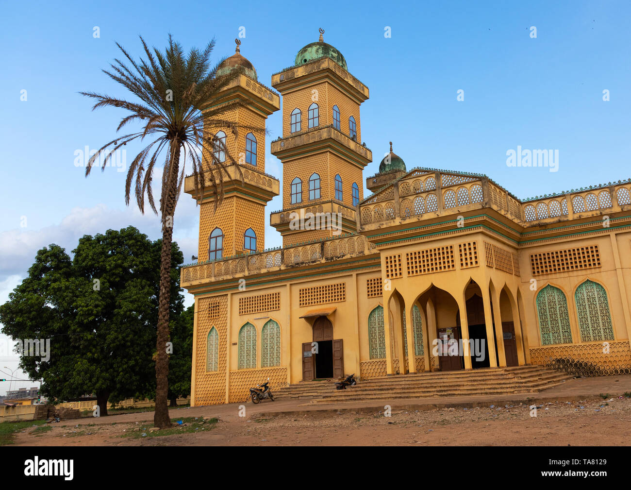 Grand mosque, Poro region, Korhogo, Ivory Coast Stock Photo