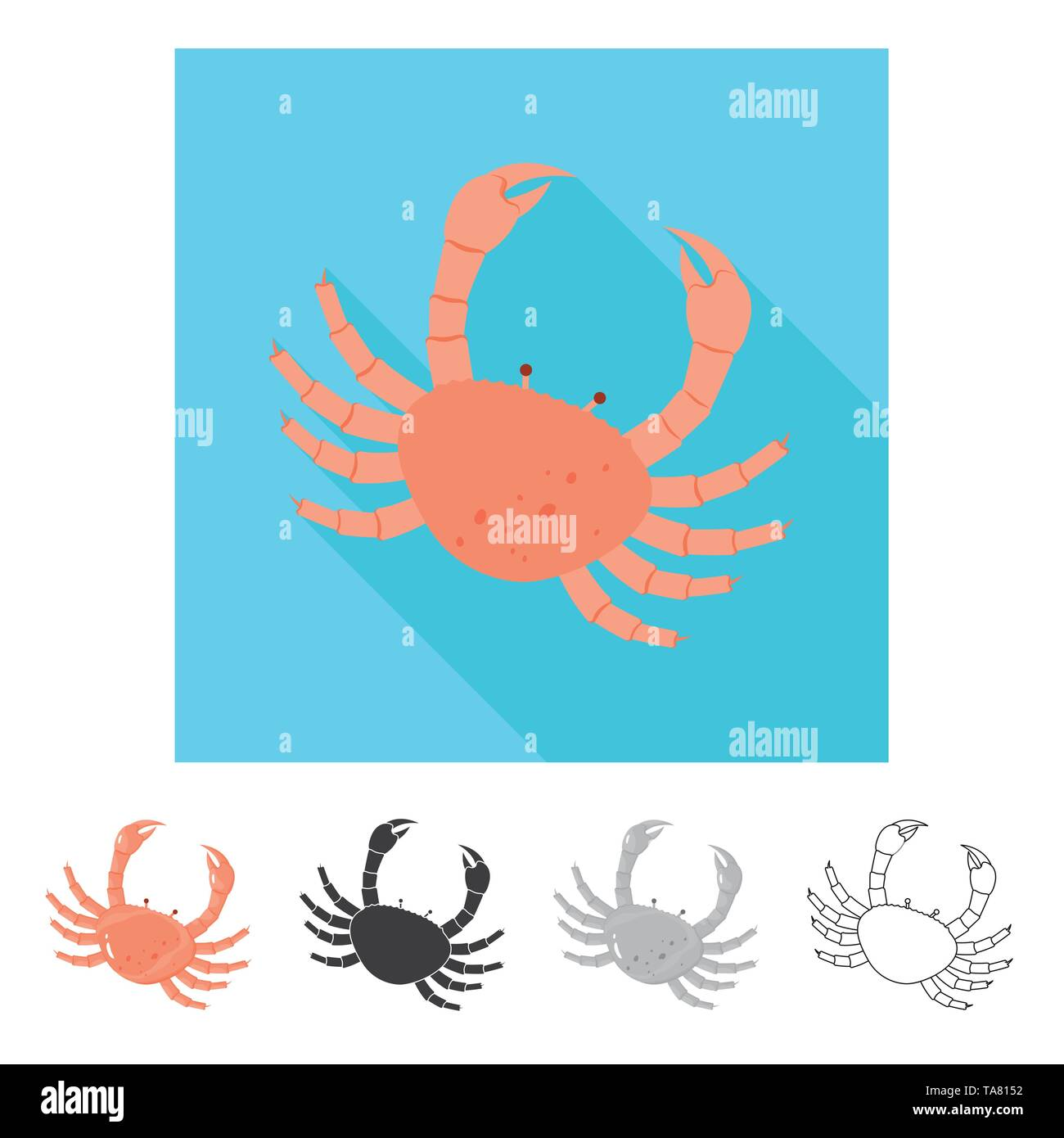 Vector illustration of fresh  and restaurant icon. Collection of fresh  and marine   stock vector illustration. - Stock Image