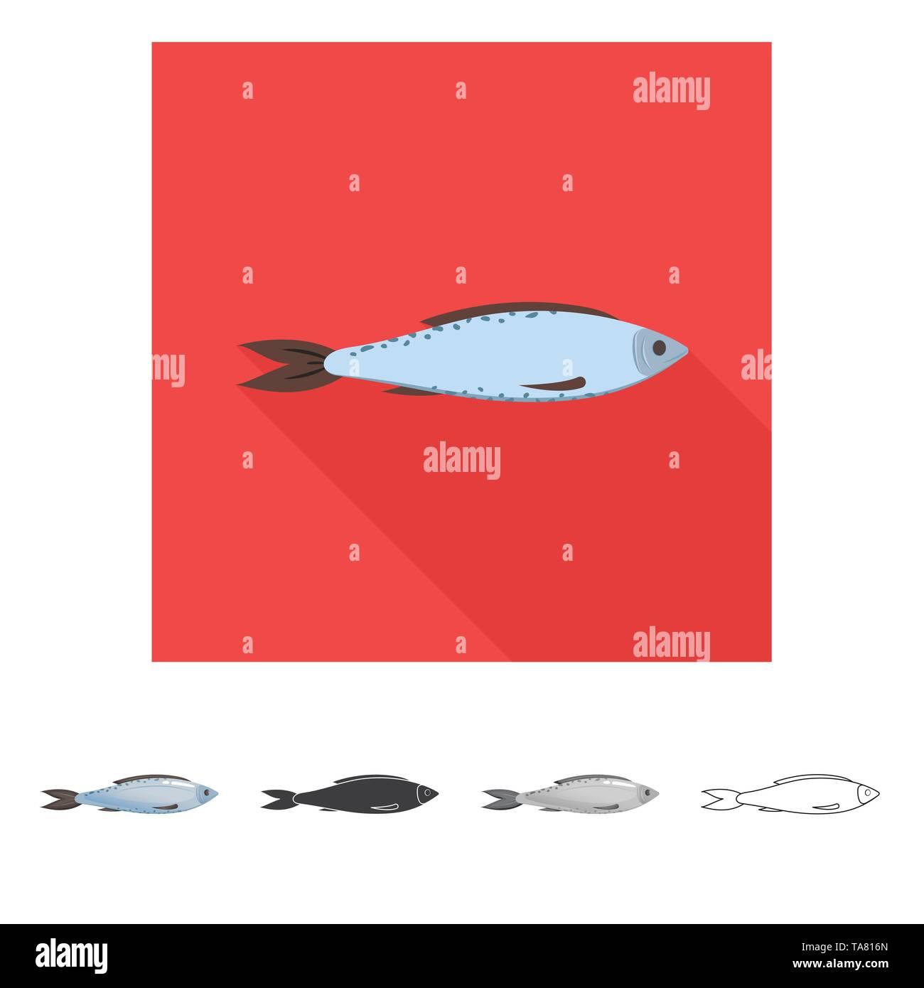Vector illustration of fresh  and restaurant symbol. Set of fresh  and marine   stock vector illustration. - Stock Image