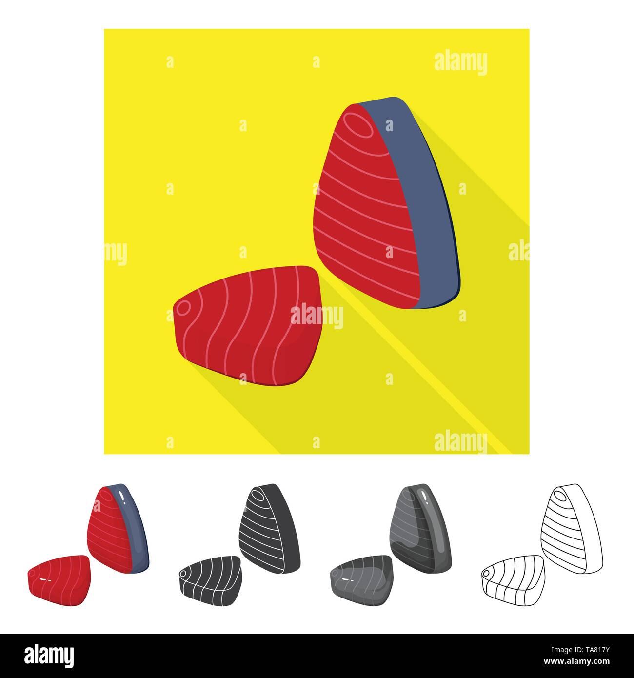 Vector illustration of fresh  and restaurant logo. Set of fresh  and marine   stock vector illustration. - Stock Image