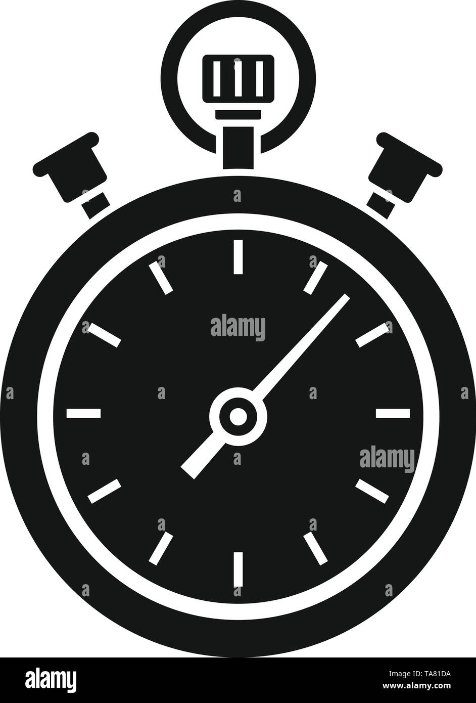 Stopwatch icon. Simple illustration of stopwatch vector icon for web design isolated on white background - Stock Image