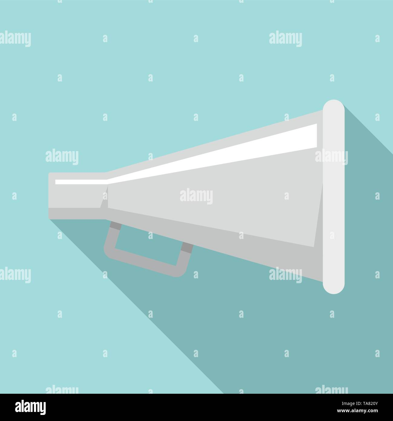 Cinema production hand speaker icon. Flat illustration of cinema production hand speaker vector icon for web design - Stock Image