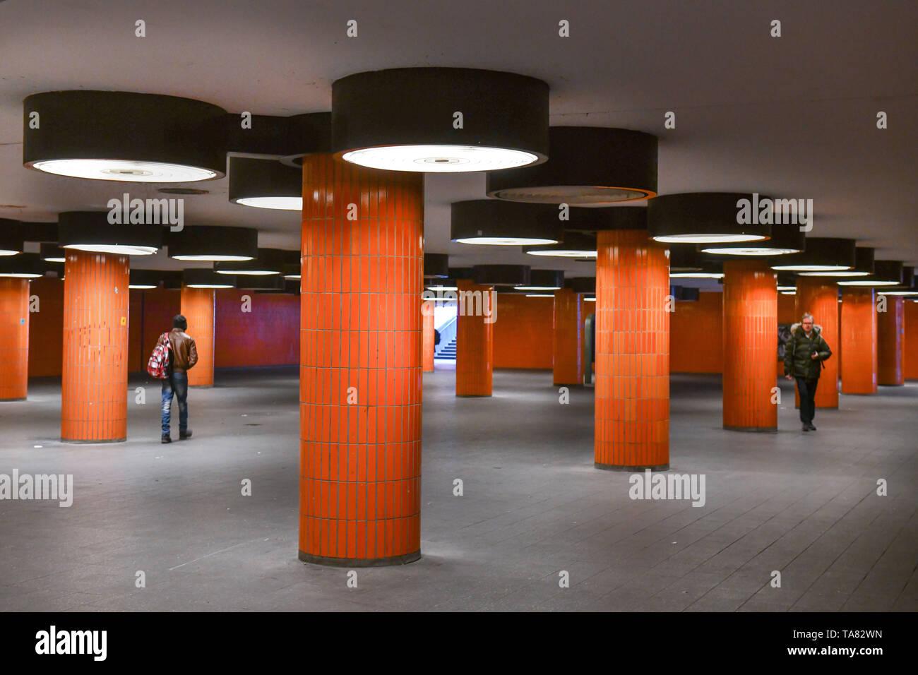 Underpass, fair dam, Westend, Charlottenburg, Berlin, Germany, Unterfuehrung, Messedamm, Deutschland - Stock Image