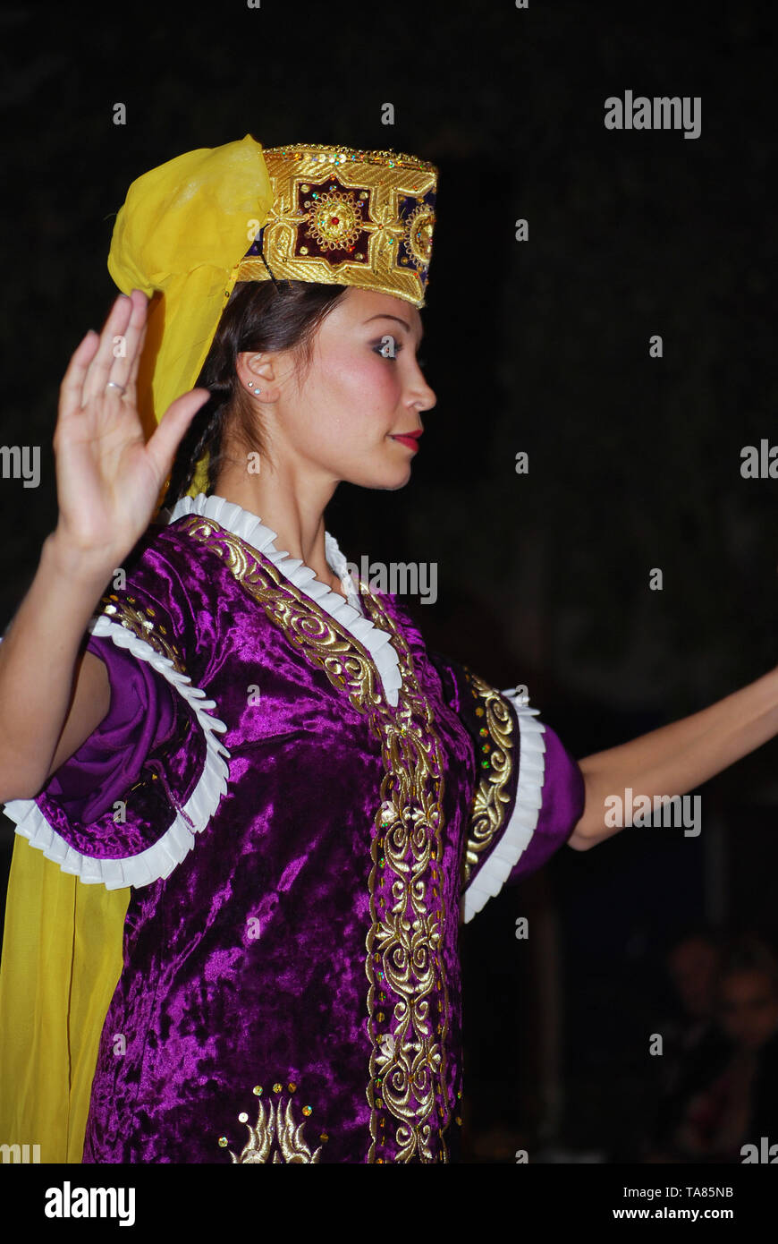 Woman in traditional costume, Bukhara - Uzbekistan. © Antonio Ciufo - Stock Image
