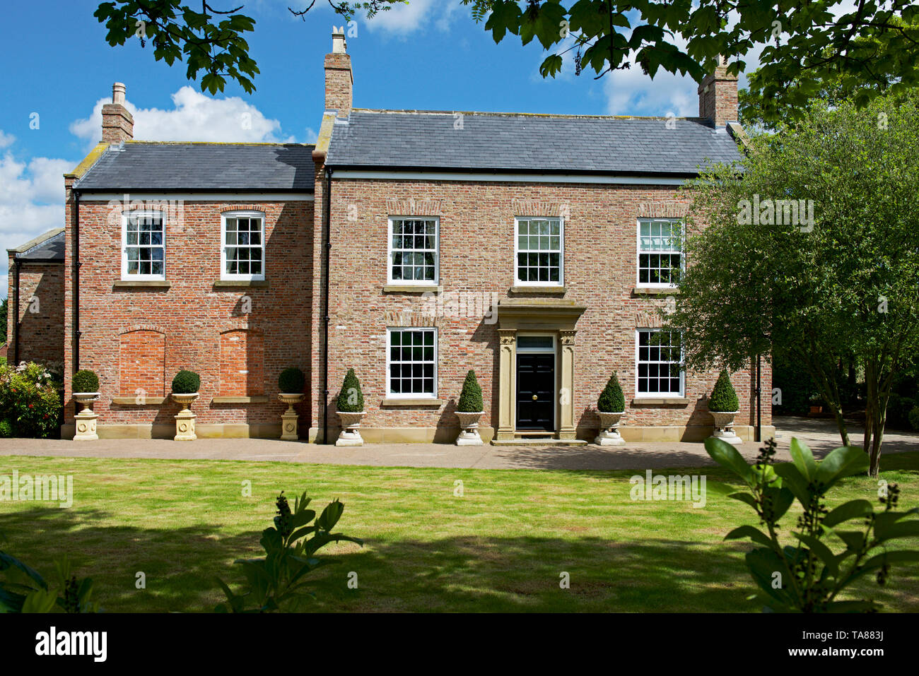 Reedness Hall, in the village of Reedness, one of the Marshland villages, East Yorkshire, England UK - Stock Image