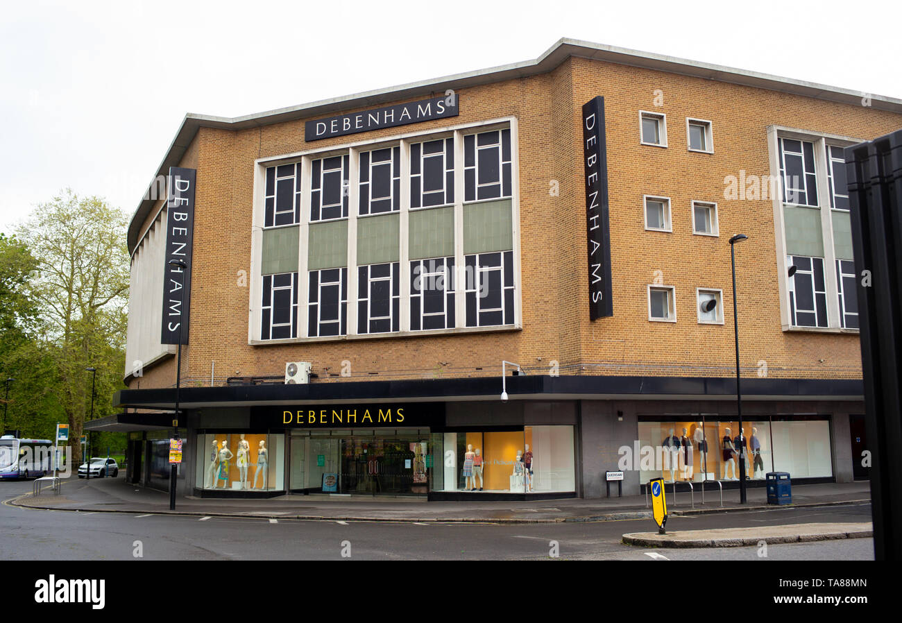 Debenhams building and department store in Southampton city centre which has been part of the city since 1960. - Stock Image
