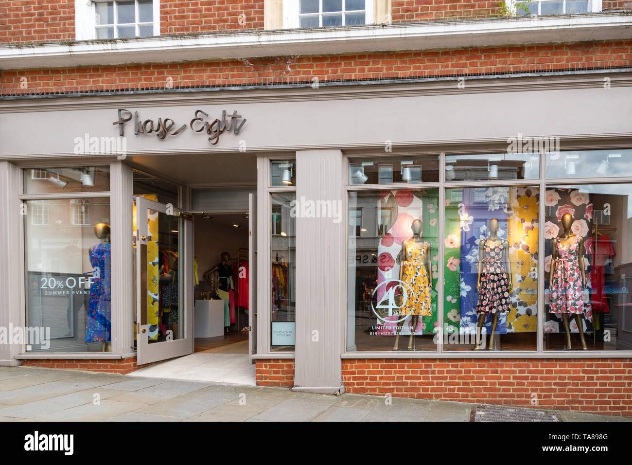 Womens Clothes In A Shop Window Display High Resolution Stock Photography And Images Alamy